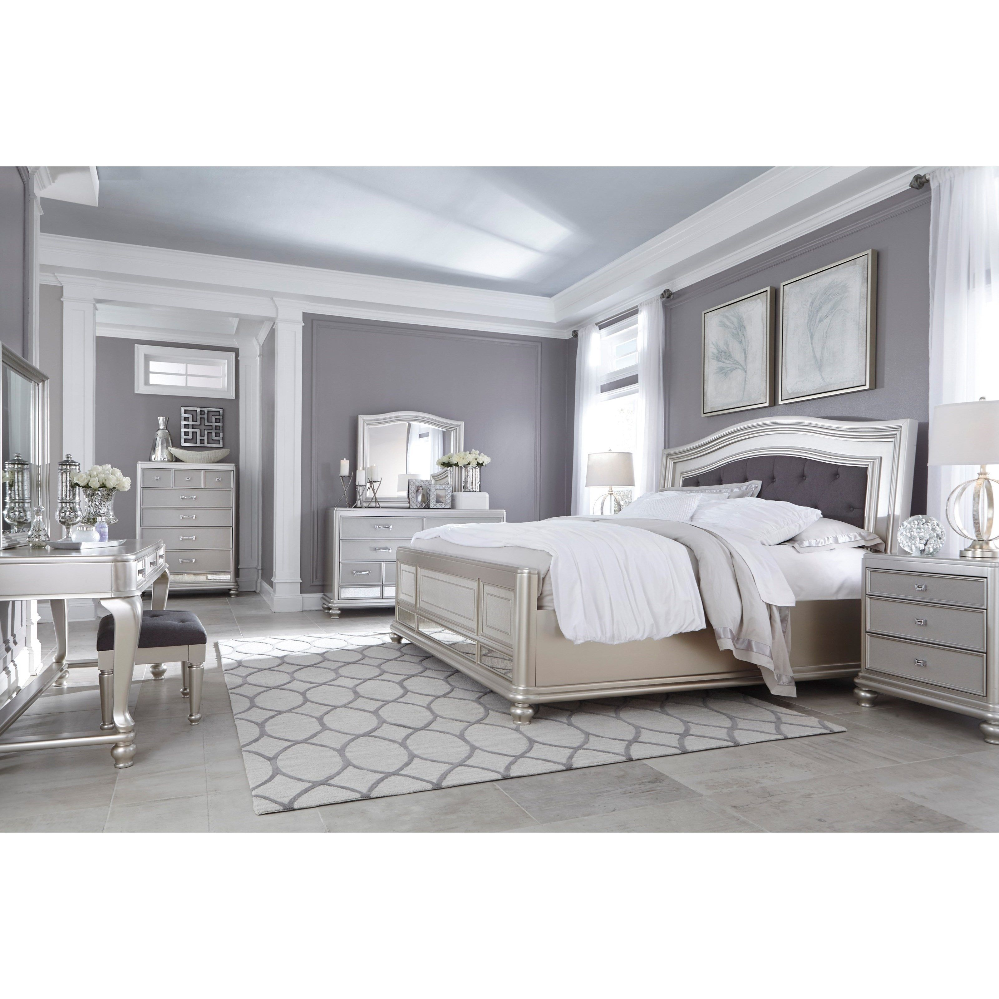 Coralayne king bedroom group by signature design by ashley for Dormitorio king