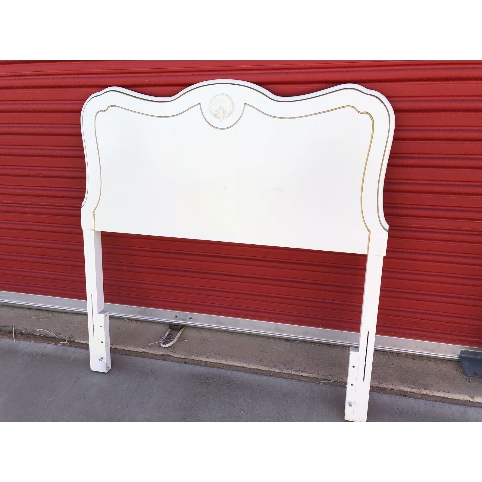 1950s Vintage Bassett Furniture White Twin Headboard