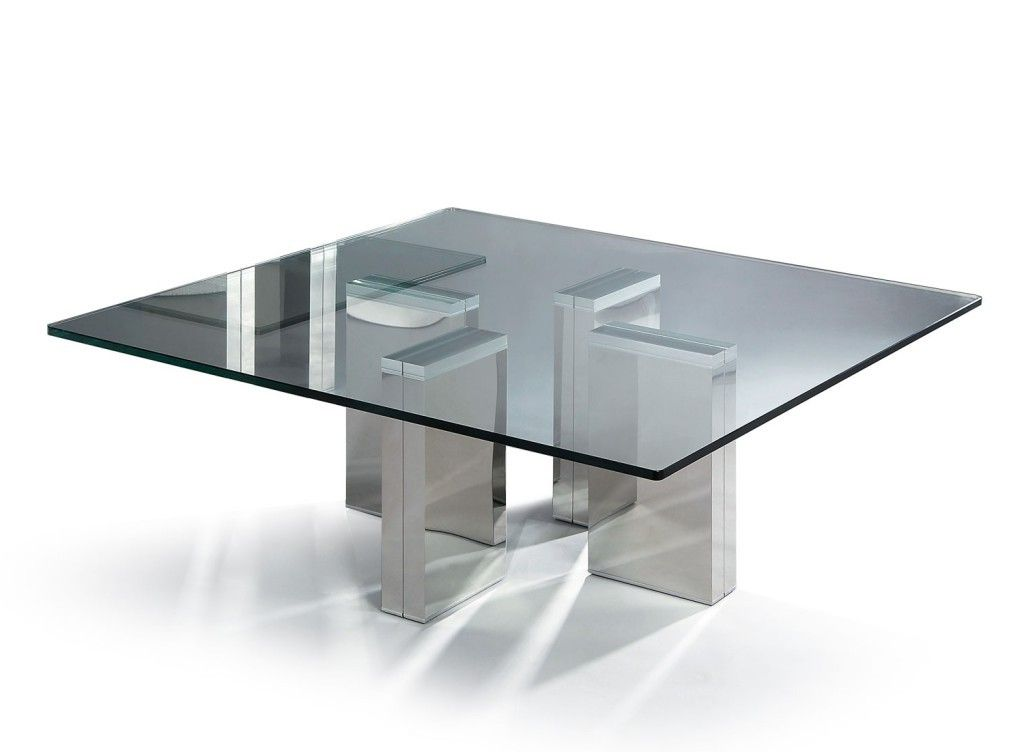 Glass Modern Coffee Table Modern Square Glass Coffee Table Coffee Side  Tables Crome Legs Silvers