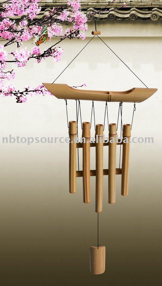 carillon de vent en bambou fait main arts collection id du produit 392366222. Black Bedroom Furniture Sets. Home Design Ideas