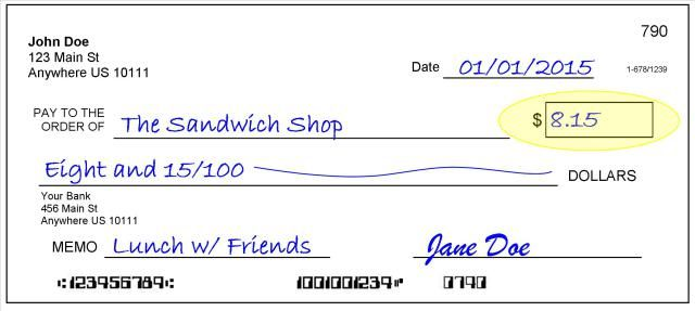 how to write a check  stepstep with pictures 2 the