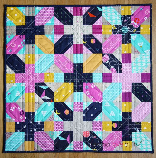 Allow me to introduce to you the mini quilt I made for the Instagram Cotton and Steel Mini Quilt Swap! It's made primarily from fabrics from the Mochi collection by Rashida Coleman-Hale, with a few prints from other Cotton and Steel collections and a...