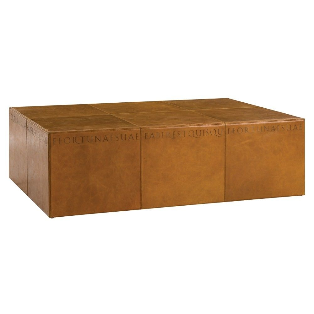 Arteriors Tholos Coffee Table Coffee Table Leather Coffee Table