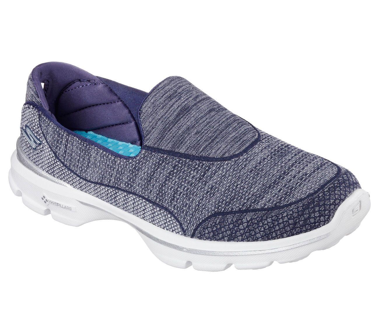 14046 Navy Skechers Shoes Go Walk 3 Women Soft Comfort