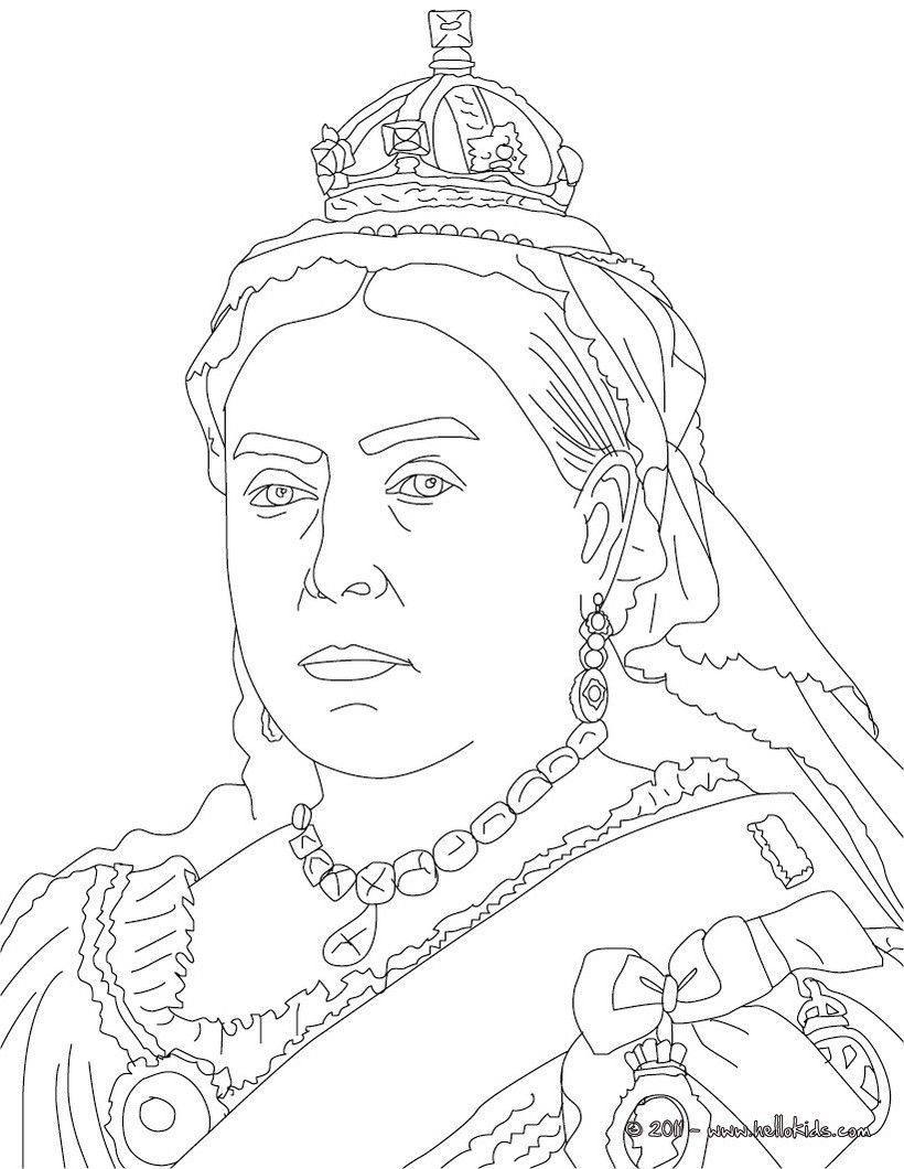 Queen Victoria Britain Coloring Page Coloring Pages
