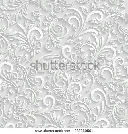 Vector Floral 3d Seamless Pattern Background For Christmas and - invitation card decoration