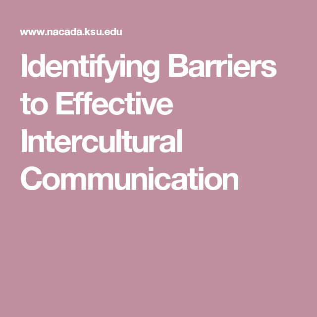 identify barriers to communication