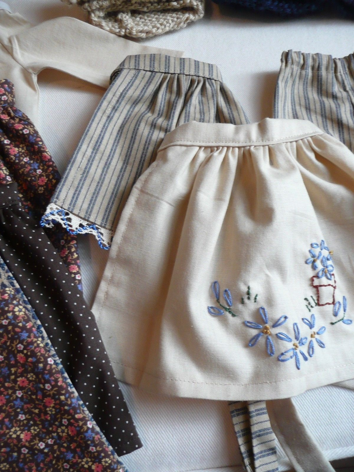 4531953f03e Sasha Farm child outfit - embroidered apron detail Embroidered Apron