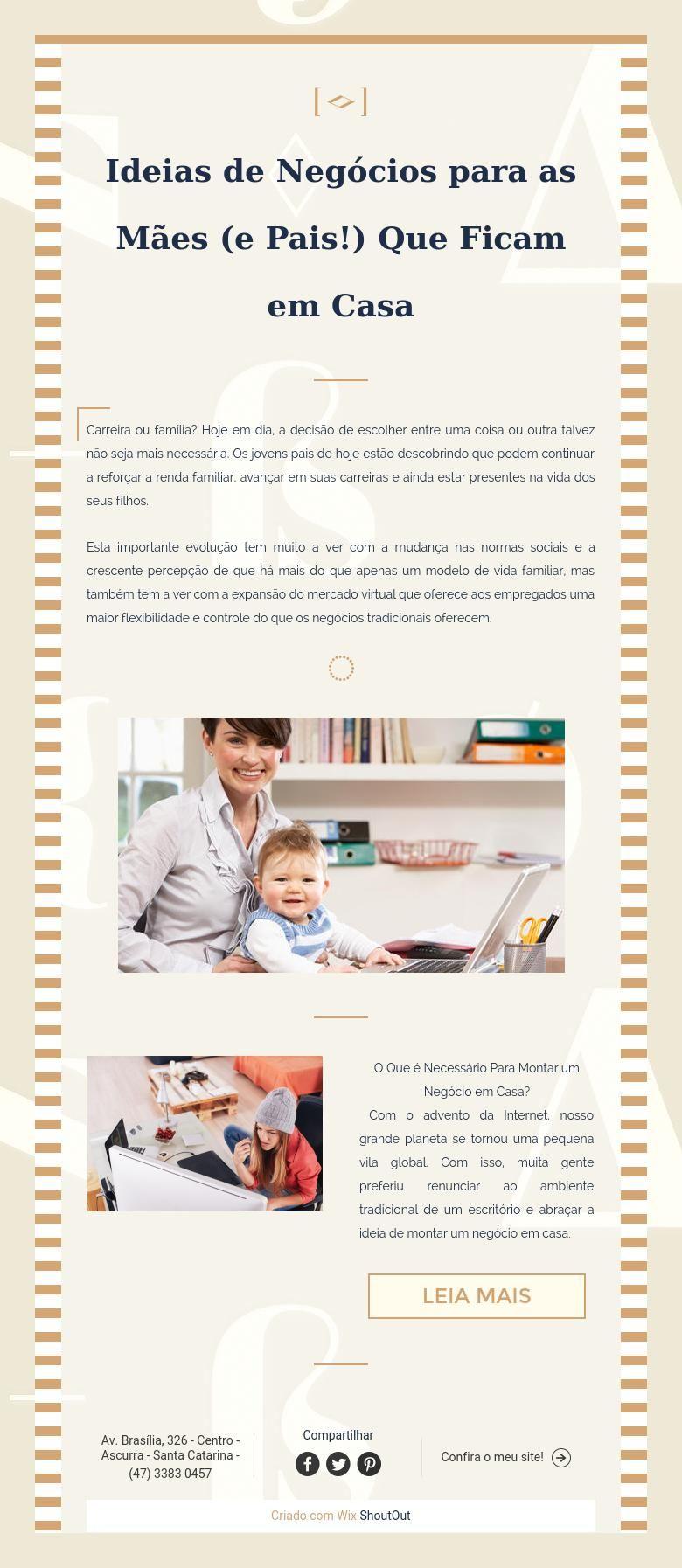 Ideias de Negócios para as Mães (ePais!) Que Ficam em Casa