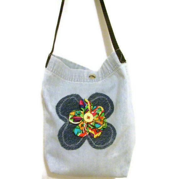 Denim Tote BagSmall Denim Tote BagWomens Denim by bagsbyhags45, $10.50