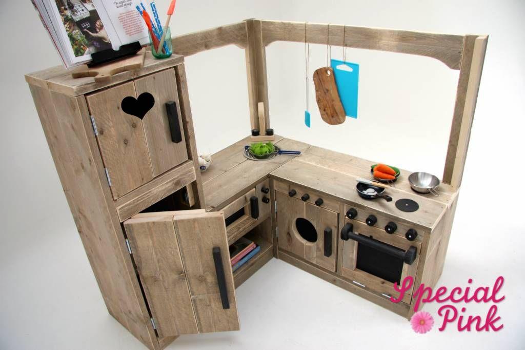 Keuken Kinderen Houten : Speelkeuken nadine is de grootste keuken in ons assortiment deze