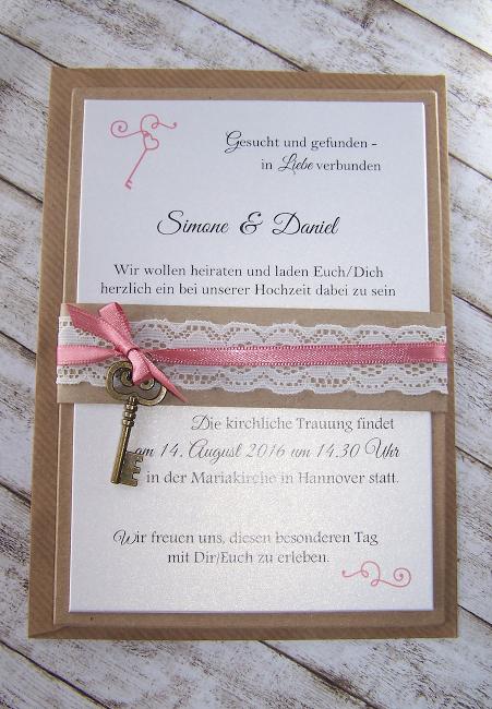 Vintage Kollektion Einladungen Zur Hochzeit Mit Spitze Im Vintage Style Mit  Schmaler Oder Breiter Spitze