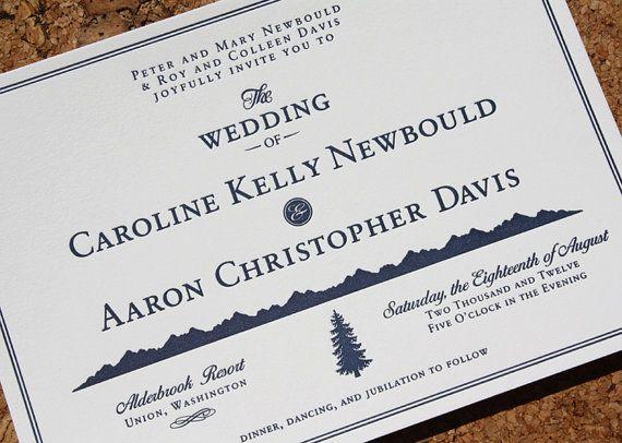 Wedding invite with mountain theme wedding $rasher$ Pinterest - fresh invitation dalam bahasa inggris