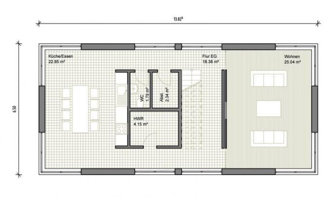 Moderne grundrisse einfamilienhaus 7 einfamilienhaus for Grundriss modernes einfamilienhaus