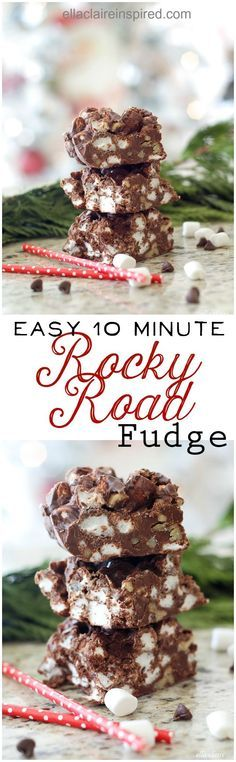 Rocky Road Fudge Deliciousness - Ella Claire