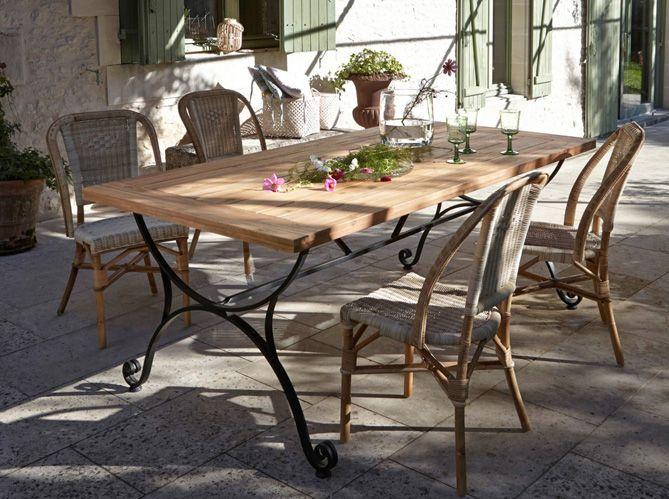 Fer Forge La Touche Retro De Votre Mobilier De Jardin Elle Decoration Mobilier Jardin Salon De Jardin Metal Table Salle A Manger