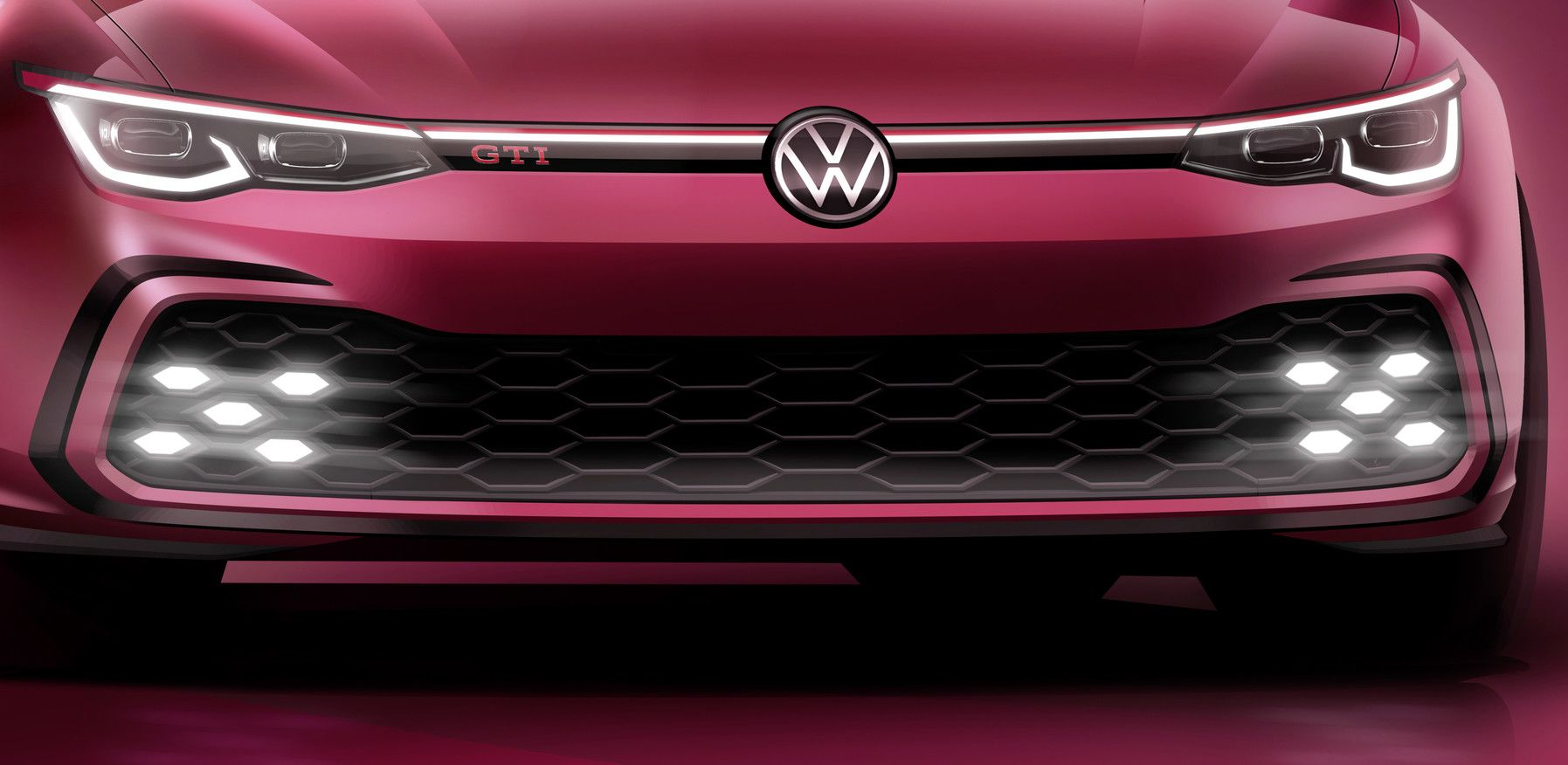 Volkswagen Officially Tease Golf 8 Gti Ahead Of Geneva Reveal Golf Gti Volkswagen Golf Gti Volkswagen