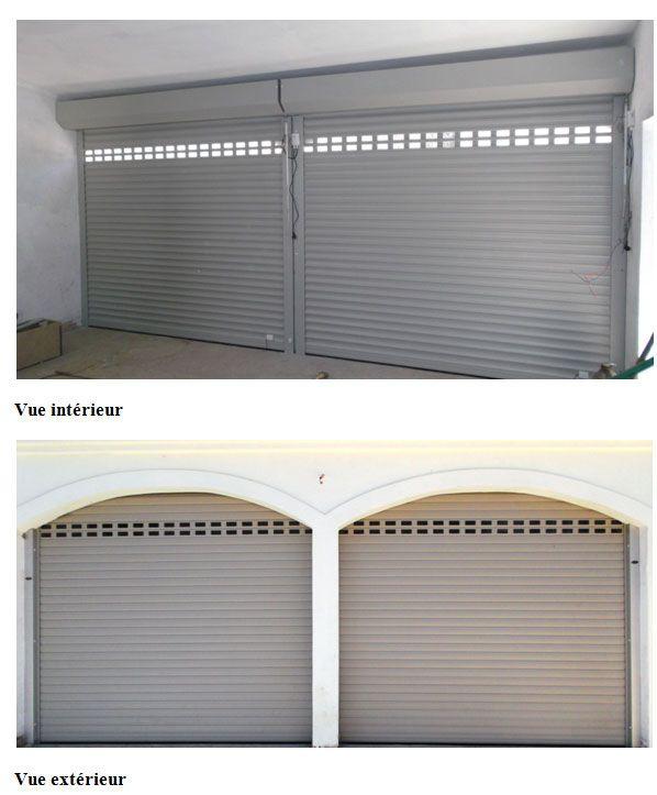 Porte de garage sectionnelle latérale  Soprofen, portes de garage