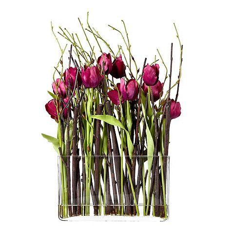 Debenhams grey rose by jane packer fabric tulips and - Groaye glasvase dekorieren ...