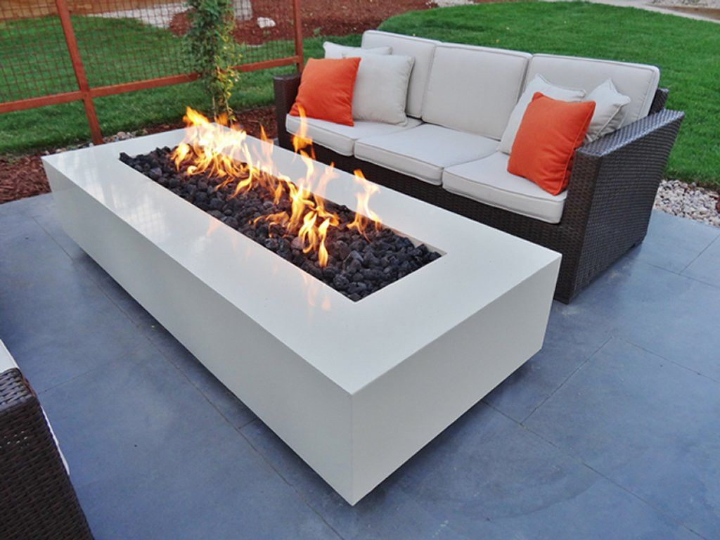 Warming Trends Fr4830ng 42 Rectangle Fire Pit Kit The Pits