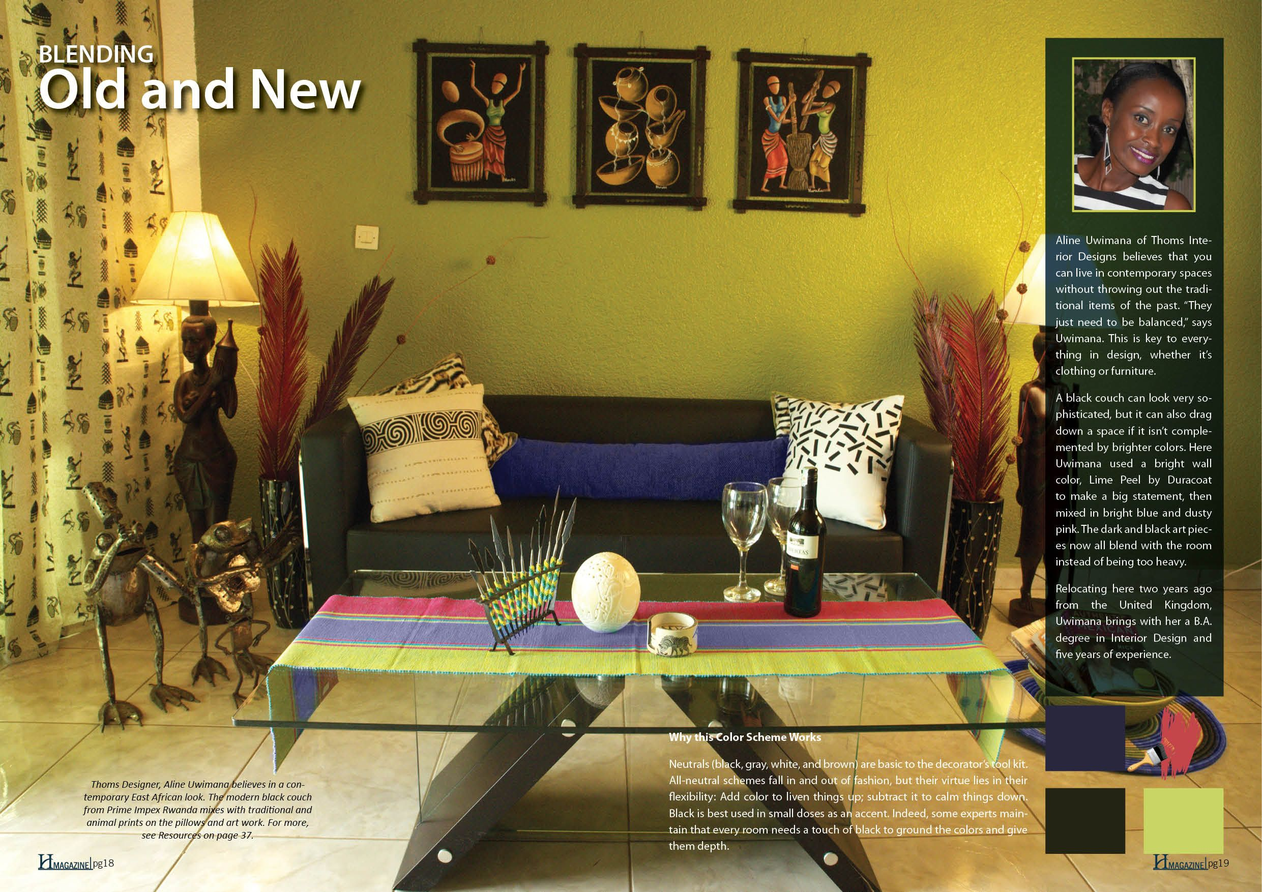 Interior Designer Alaine Hermanns Showcased Another Home And Blended  Traditional African Art Pieces With More Modern With Interior Design  Without Degree