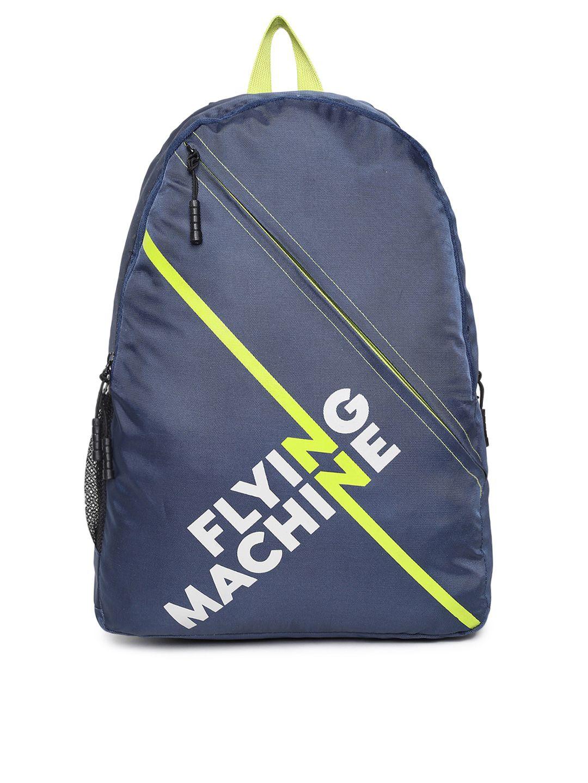 ba51f807aeb2 Flying Machine Navy Blue Brand Logo Backpack  Backpacks  Navy  Polyester