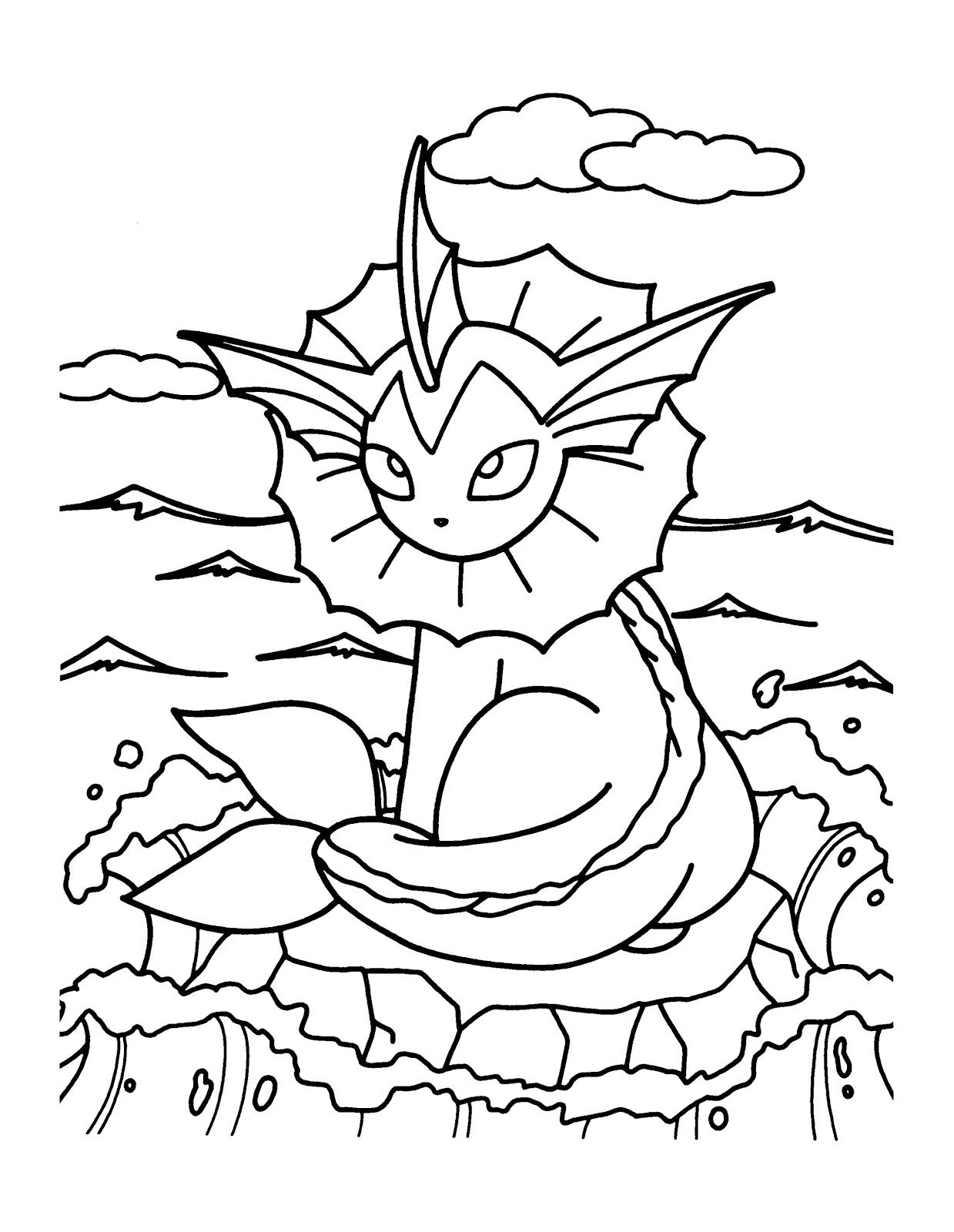 Printable Pokemon Vaporeon Coloring Pages Superhero Coloring Pages Bear Coloring Pages Animal Coloring Pages