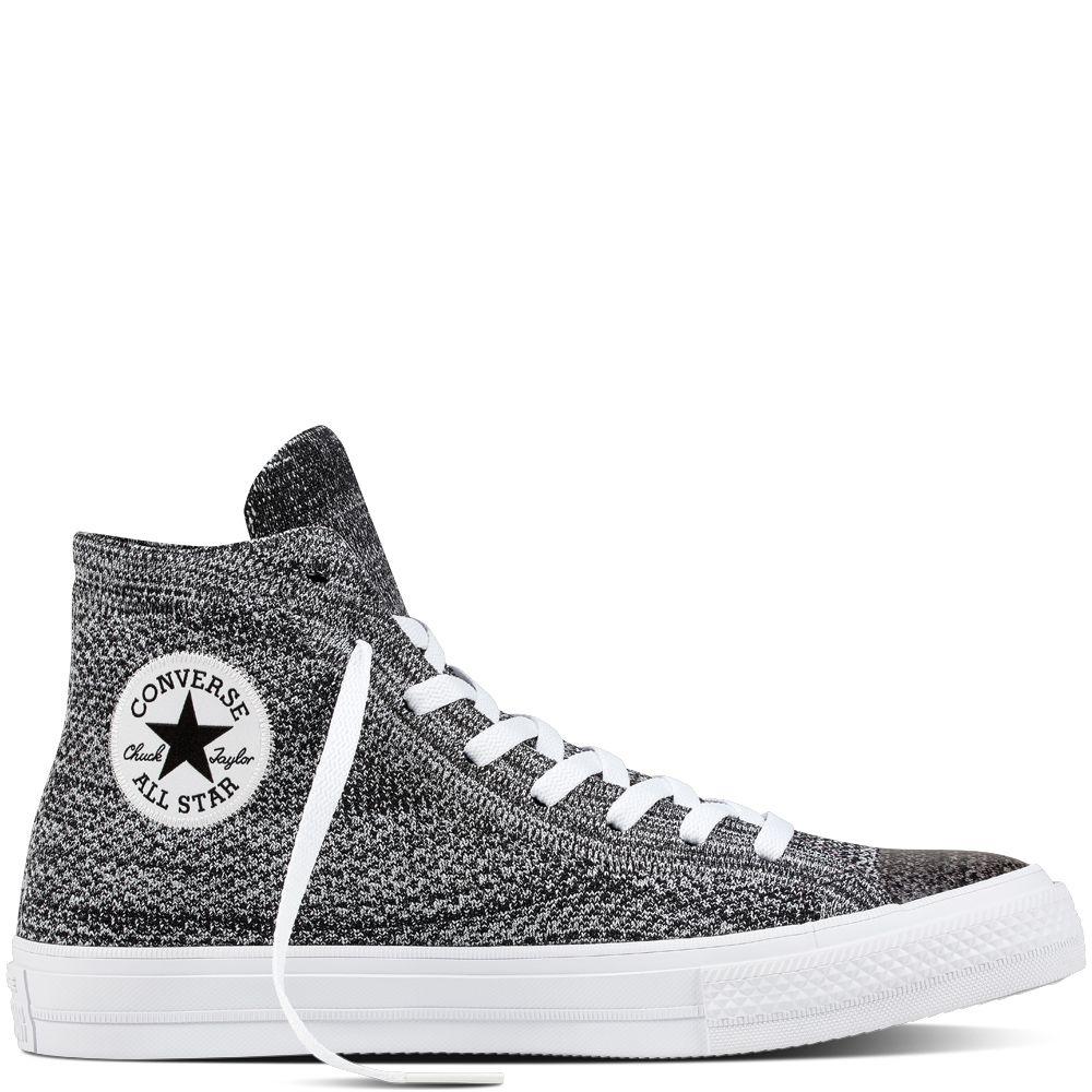 Chuck Taylor All Star X Nike Flyknit Zwart/Wolf Grey/Wit black/wolf