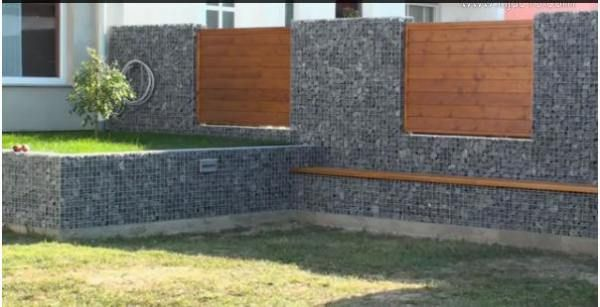 Gabions Examples | Narrow Gabion Wall Foundation Design Simple Low