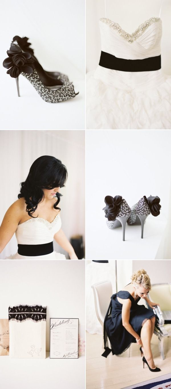 Here's some gorgeous accesories for that black and white wedding!