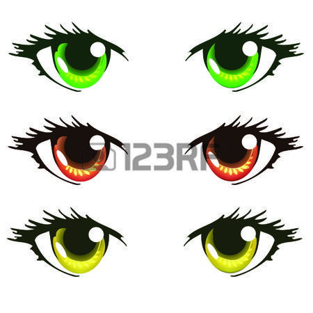 Light Green Red Orange And Yellow Color Anime Eyes Anime Eyes Anime Anime Sketch