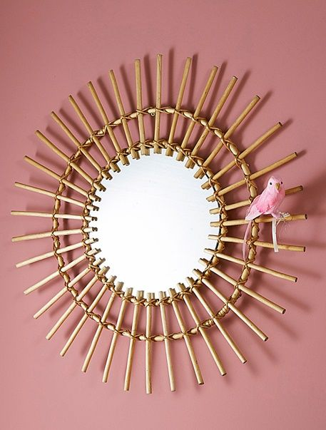 Miroir en rotin - Bois - 2   J\'aime   Pinterest   Miroir en rotin ...