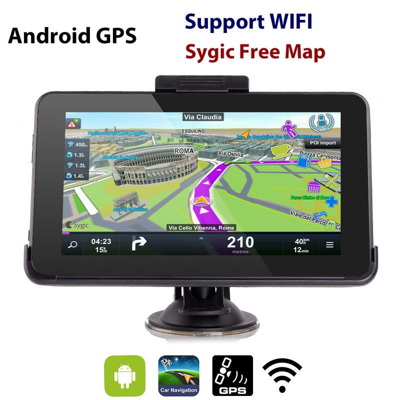 Eroad E HD Inch Android Car GPS Navigation GB WiFi Tablet PC - Gps with europe and us maps
