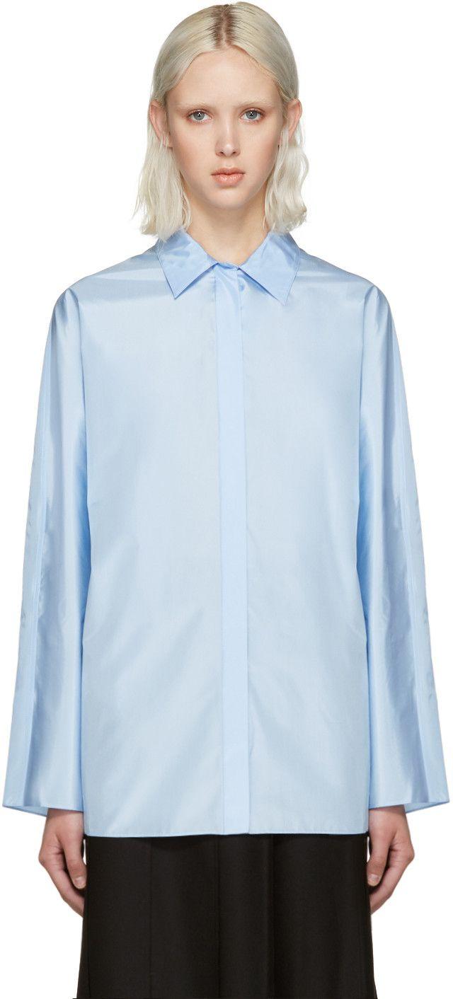 b5c6db587ee NINA RICCI Blue Technical Silk Blouse.  ninaricci  cloth  blouse ...