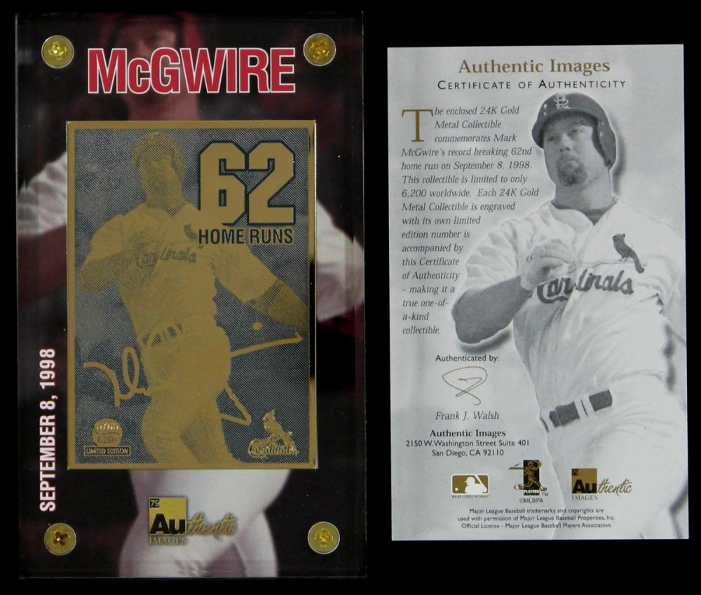 Mark Mcgwire Cardinals Baseball Card Mark Mcgwire