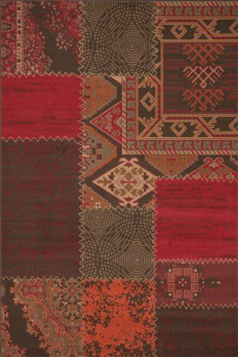 teppich wohnzimmer carpet modernes design patchwork rug usa los angeles rot 60x110cm teppiche. Black Bedroom Furniture Sets. Home Design Ideas