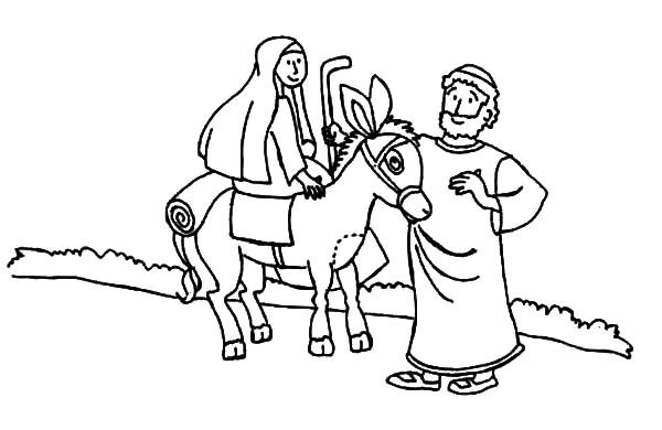 Pin On Mary And The Donkey Coloring Pages