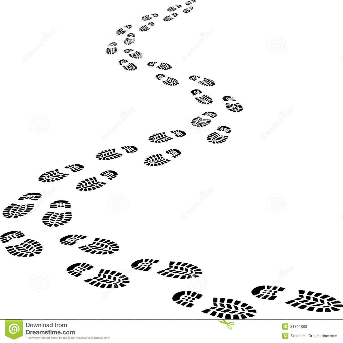 Footprints Or Are The Impressions Or Images Left Behind