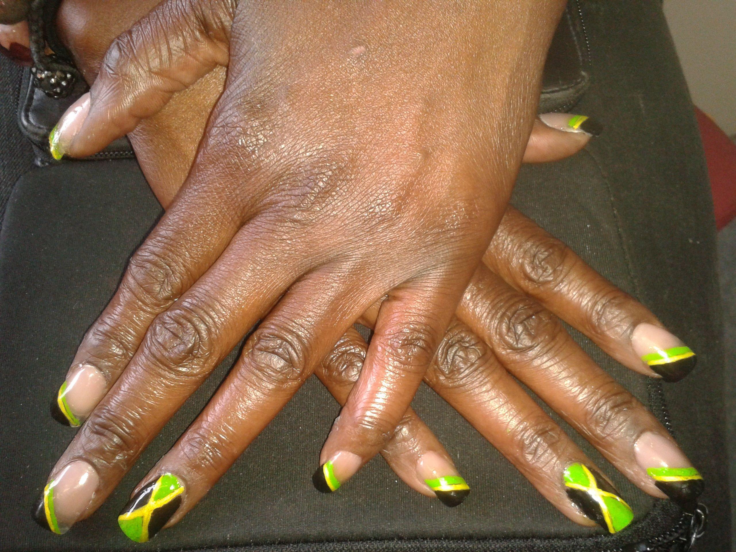 Jamaican nail art . | Nails | Pinterest