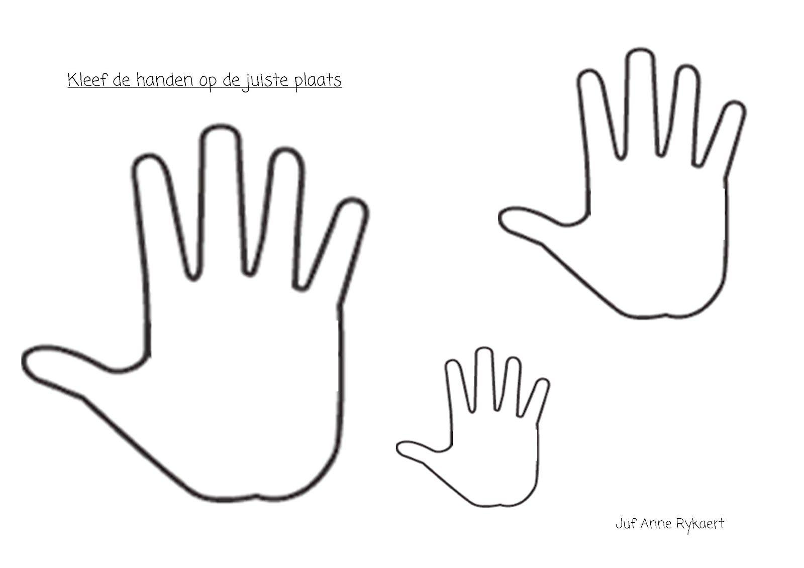 kleurplaat handen zoeken het lichaam lichaam