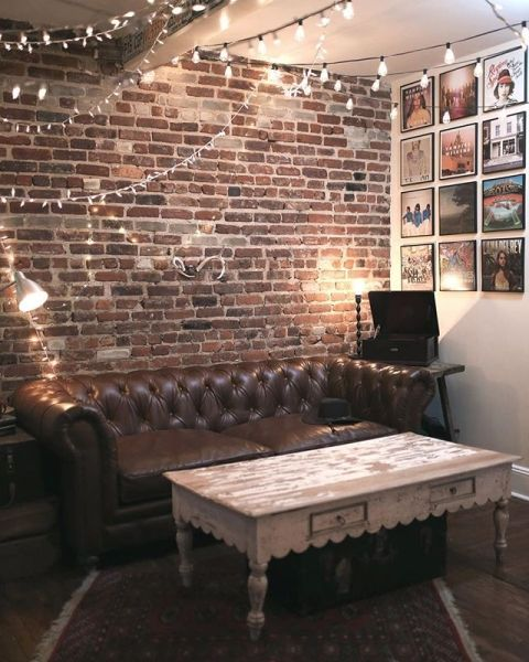 23 Elegant Living Room With Exposed Brick Wall: Pin On Dream Decor