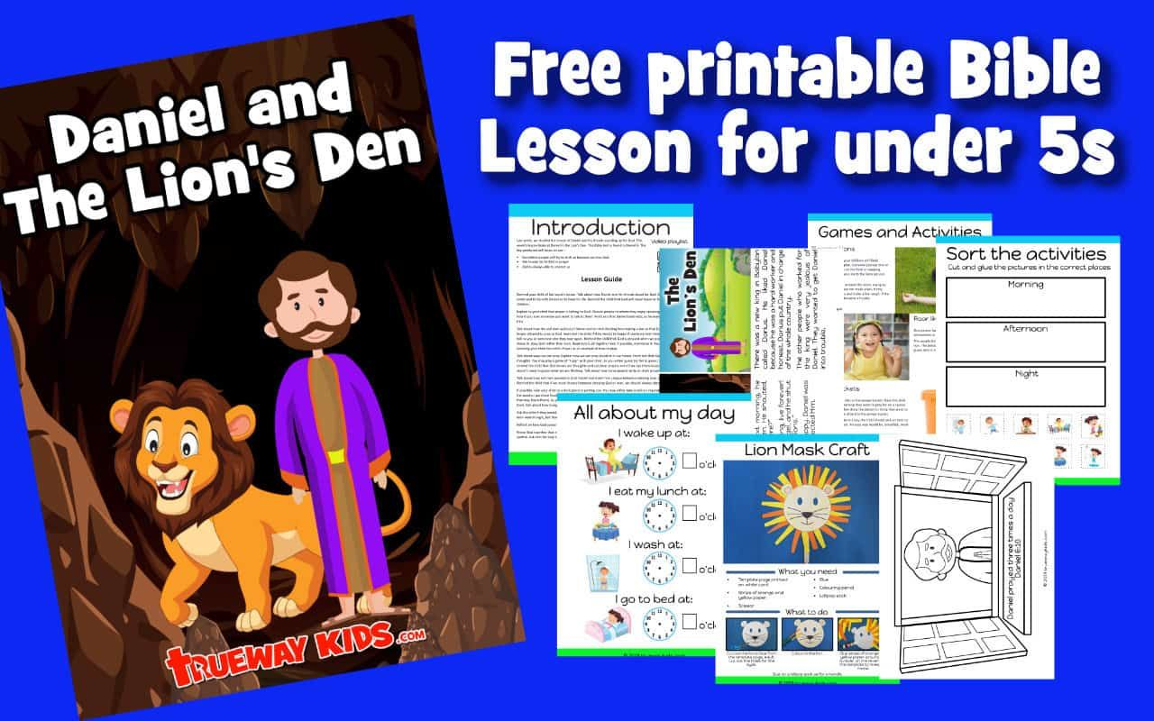 Free Printable Bible Lesson On Daniel And The Lion S Den