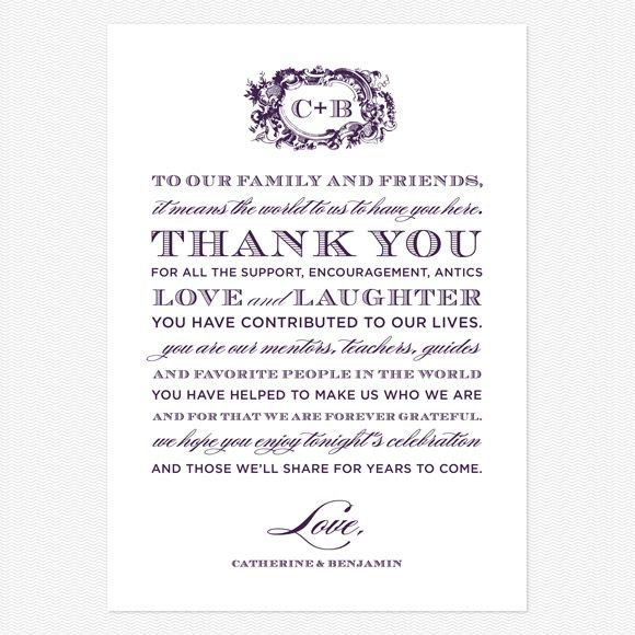 After Wedding Thank You Messages: Style And Grace Thank You Message Cards