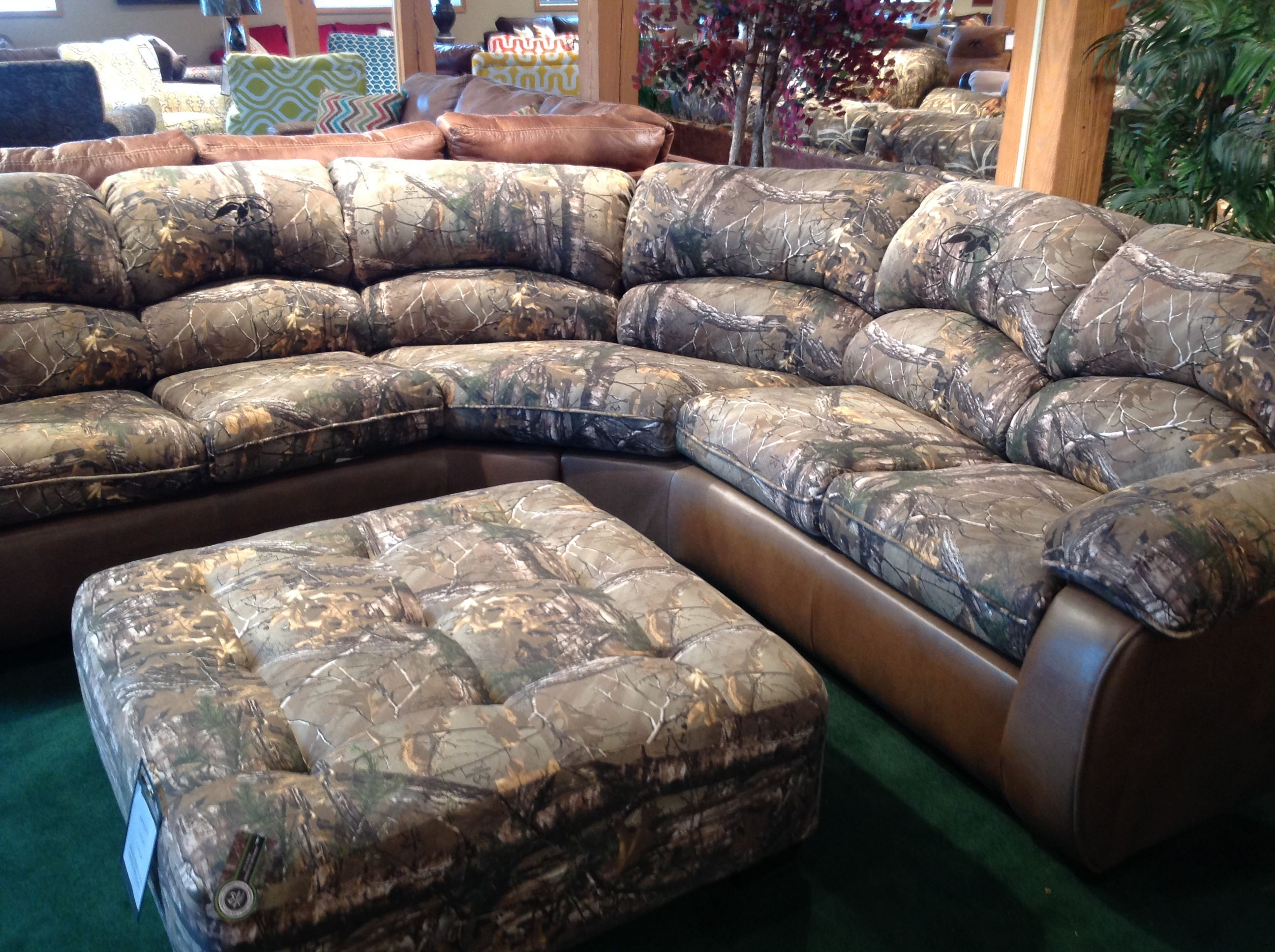 Duck Dynasty Furniture At High Point Market! This Sectional Is Sure To  Catch The Attention
