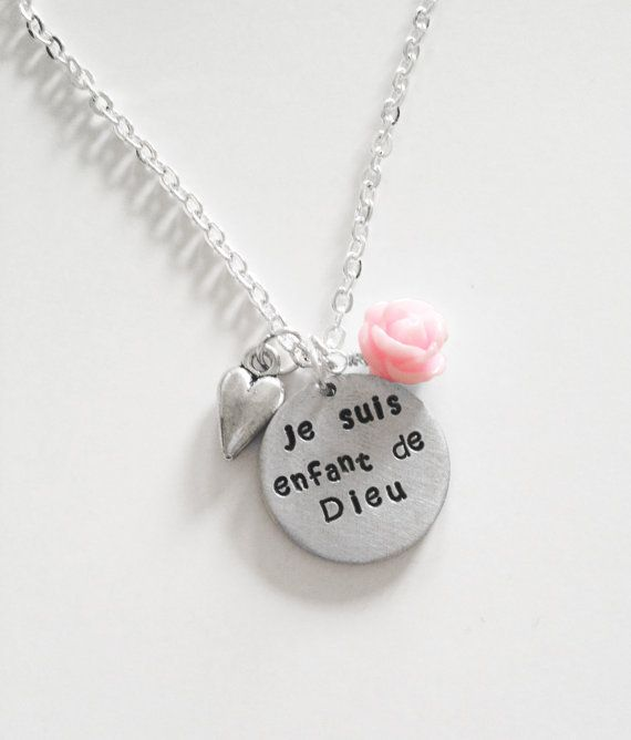 French I Am A Child Of God Je Suis Enjant De Etsy Pretty Jewellery Little Girl Gifts Lovely Jewellery