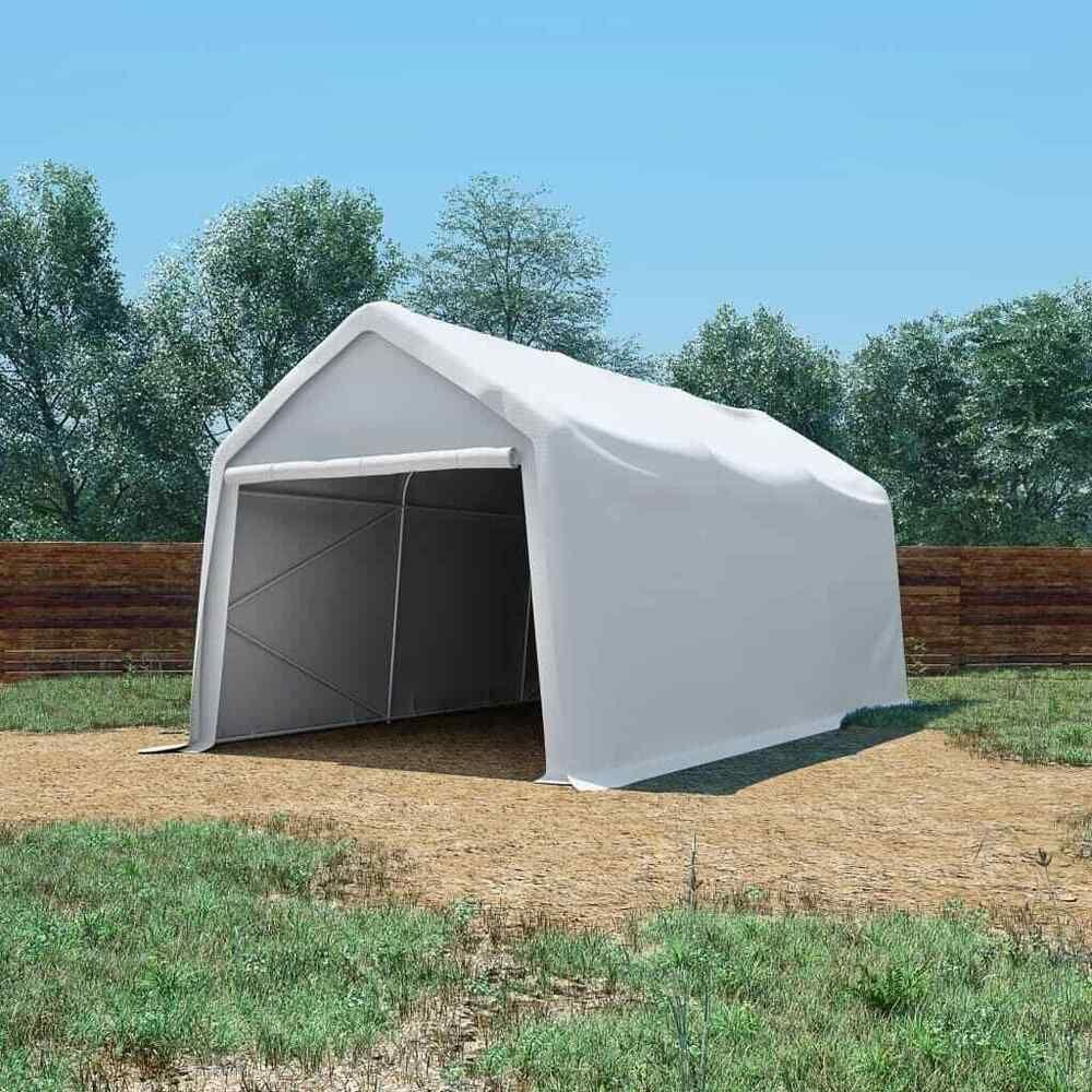 Vidaxl Tente De Rangement Pvc Blanc Tente De Jardin Tente De