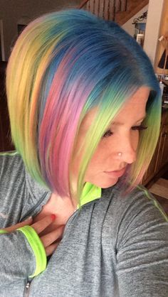 Funky Short Hair Colors Future Art Amazing Style