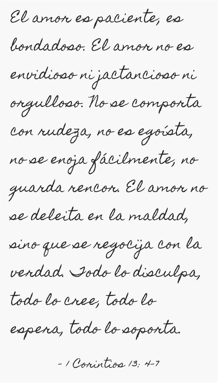El amor es paciente, es bondadoso. El amor no es envidioso ni ...