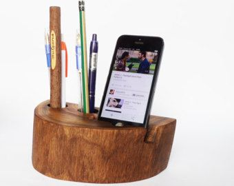 Iphone dock office organizer pen holder iphone 4 iphone 5