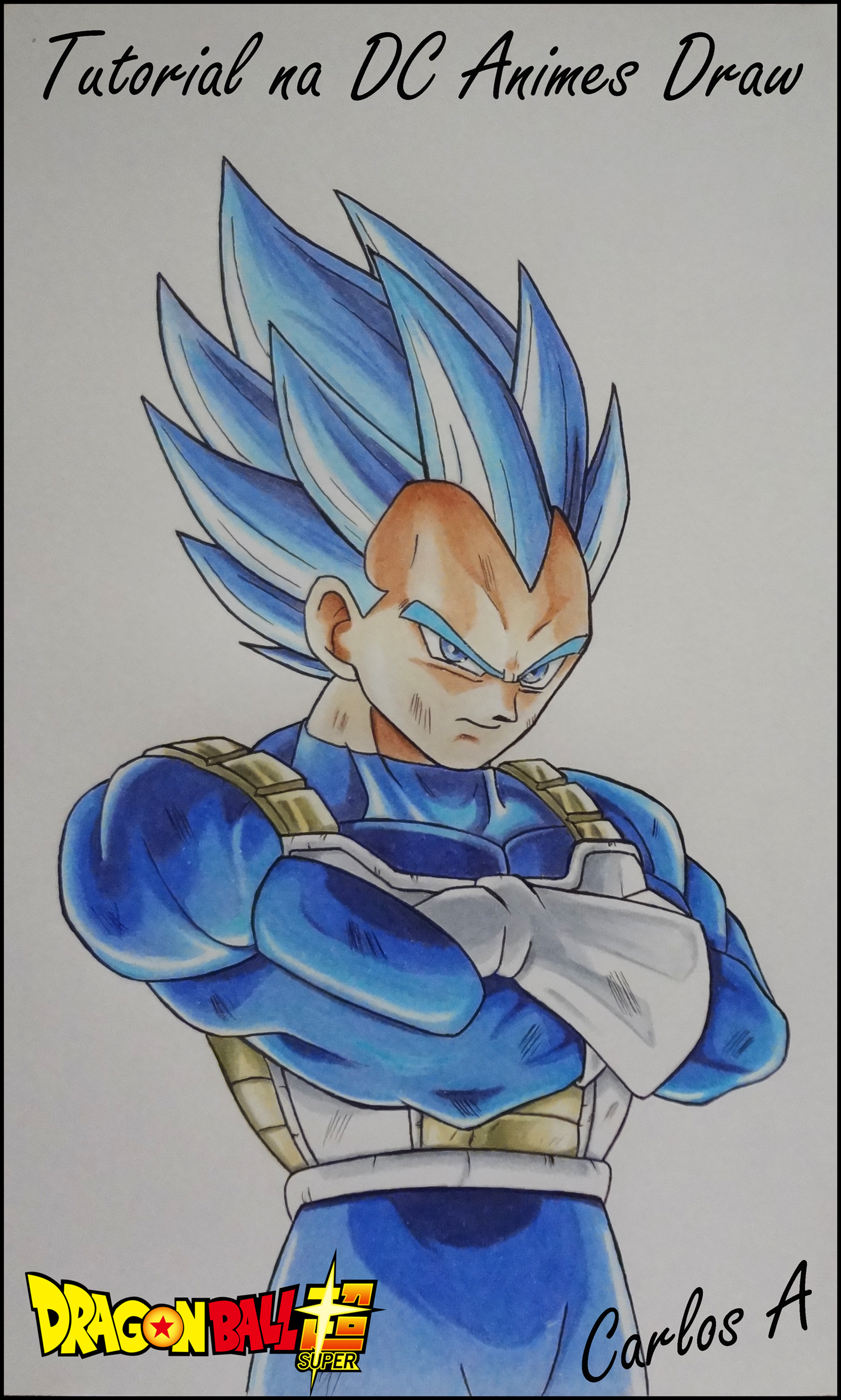 Como Desenhar Vegeta Ssj Blue Nova Transformacao How To Draw